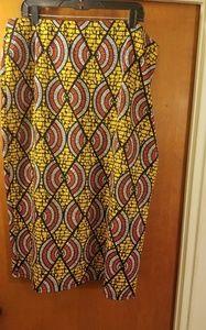 Ashley Stewart multicolored geometric pencil skirt
